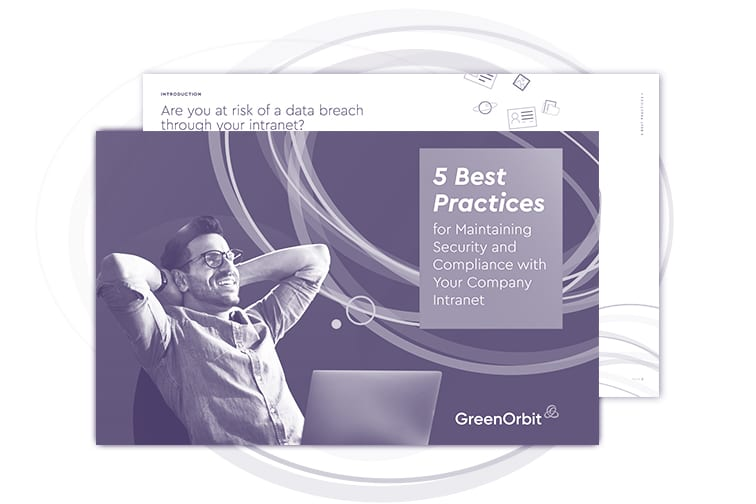 5 Best Practices for security and compliance of GreenOrbit Intranet