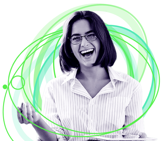 A Woman Smiling About Digital Workplace Productivity